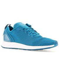 cab8ac4dd adidas Originals Zx Flux Slipon Men s Shoes (trainers) In Blue in ...