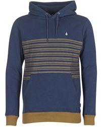 Volcom - Threezy Po Men's Sweatshirt In Blue - Lyst