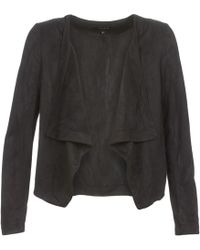 Vila - Visimply Women's Leather Jacket In Black - Lyst