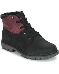 Caterpillar - Fret Fur Wp Women's Mid Boots In Black - Lyst