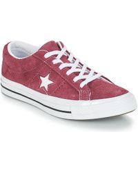 Converse - One Star Bordeaux Suede Trainers - Womens Uk 4 - Lyst 6b7b44786