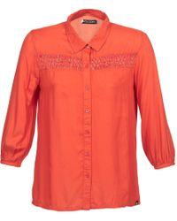 Volcom - Knotty Women's Long Sleeved Shirt In Orange - Lyst
