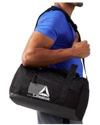 Reebok - Act Fon S Grip Men's Sports Bag In Black - Lyst