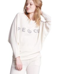 Max & Moi - Pullover Peace White Woman Spring/summer Collection 2018 Women's Sweatshirt In White - Lyst