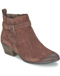 efaeaa581 Sam Edelman - Pacific Women s Low Ankle Boots In Brown - Lyst