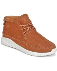 ASFVLT Sneakers - Yuma Women's Shoes (high-top Trainers) In Brown - Lyst