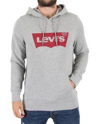 Levi's   Levis Men's Graphic Pullover Logo Hoodie, Grey Men's Sweatshirt In Grey   Lyst