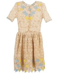 Manoush - Roses Women's Dress In Beige - Lyst