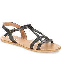 So Size - Duran Women's Sandals In Black - Lyst
