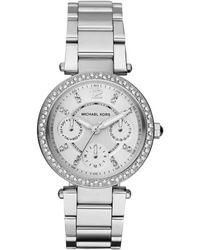 MICHAEL Michael Kors - - Mk5615 - Silver Women's Analogue Watches In Silver - Lyst