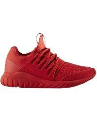 Adidas Tubulare Radiale Scarpe Da Uomo (Formatori) In Rosso In Rosso Per Gli Uomini.