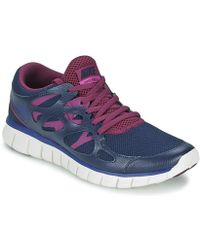Nike - Free Run 2 Ext Women's Shoes (trainers) In Blue - Lyst