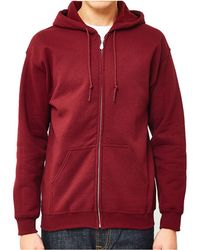 The Idle Man - Classic Zip Through Hoodie Burgundy Men's Jumper In Red - Lyst