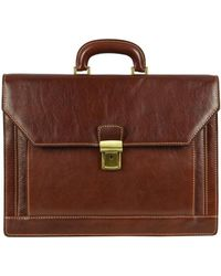 Time Resistance - The Good Soldier Men's Briefcase In Brown - Lyst