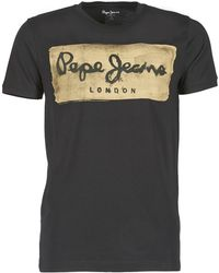 Pepe Jeans - Charing Men's T Shirt In Black - Lyst