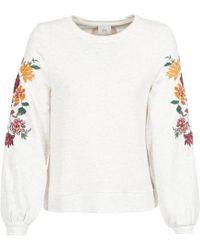 ONLY - Onlanna Women's Sweatshirt In Beige - Lyst