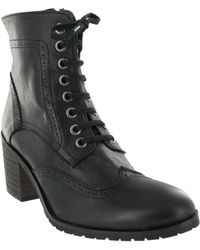 Marta Jonsson - Brogue Ankle Boot With Laces Women's Low Ankle Boots In Black - Lyst