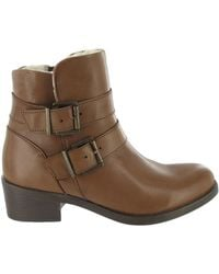 Marta Jonsson - Ankle Boot With Buckles Women's Low Ankle Boots In Brown - Lyst