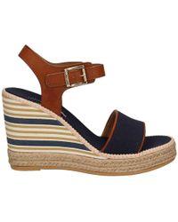 U.S. POLO ASSN. - U.s. Polo Assn. Doras4061s6/yc2 Wedge Sandals Women Blue Women's Sandals In Blue - Lyst