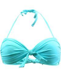 Carla Bikini - Turquoise Bandeau Swimsuit Electro Oceandeep Women's Mix & Match Swimwear In Blue - Lyst