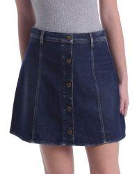 Gas - 335619 Skirt Women Women's Skirt In Blue - Lyst