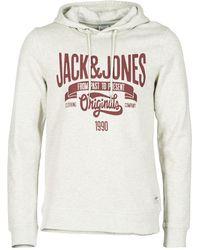 Jack & Jones - OSKAR ORIGINALS hommes Sweat-shirt en blanc - Lyst