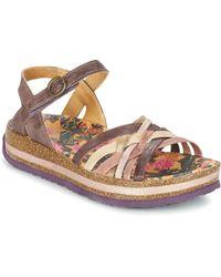 Think! - Zega Women's Sandals In Purple - Lyst