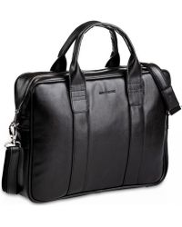 Brødrene - Brã ̧drene Na Ramię Na Laptop Casual Brodrene B01 Czarna Men's Bag In Black - Lyst