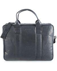 Brødrene - 7188 Men's Briefcase In Black - Lyst