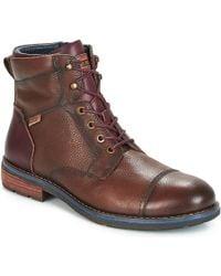 Pikolinos - York M2m Men's Mid Boots In Brown - Lyst