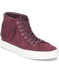 Vans - Sk8-hi Moc Women's Shoes (high-top Trainers) In Red - Lyst