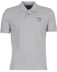 Napapijri - Egegik Men's Polo Shirt In Grey - Lyst