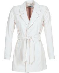 ONLY - Dicte Runa Women's Trench Coat In White - Lyst
