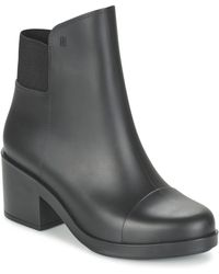 Melissa - Elastic Boot Women's Low Ankle Boots In Black - Lyst