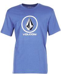 Volcom - Crisp Bsc Men's T Shirt In Blue - Lyst