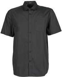 Volcom - Evrett Solid Ss Men's Short Sleeved Shirt In Black - Lyst