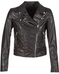 Benetton - Fajoli Women's Leather Jacket In Black - Lyst