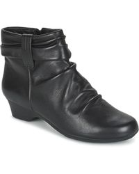 Clarks - Matron Ella Women's Low Ankle Boots In Black - Lyst
