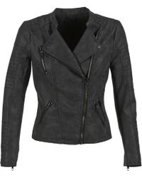 ONLY | Ava Women's Leather Jacket In Black | Lyst