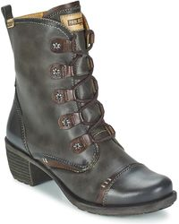 Pikolinos - Le Mans Glico Women's Low Ankle Boots In Grey - Lyst