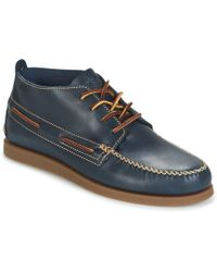 Sperry Top-Sider - A/o Wedge Chukka Leather Men's Mid Boots In Blue - Lyst