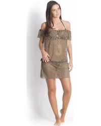 21fa70d7c62 Banana Moon - , Swimsuit Cover-up, Khaki - James Seethrough Women's Tunic  Dress