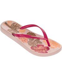 5a65457467ac6 Ipanema - Petal V Flip Flops In Pink Flowers Print 81924 Women s Flip Flops    Sandals