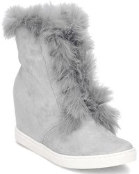 Gino Rossi - Taniko High Top Women's Snow Boots In Grey - Lyst
