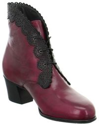 Everybody - 61780s5218sangrianer Women's Low Ankle Boots In Red - Lyst