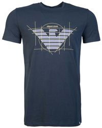 Armani Jeans - T Shirt 6y6t12 6j0az Men's T Shirt In Blue - Lyst