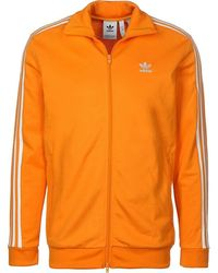adidas - Beckenbauer TT Giacca Sportiva Arancione hommes Veste en orange - Lyst