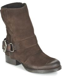 Dream in Green - Efinette Women's Mid Boots In Brown - Lyst