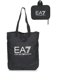 140a2b8b6fd5 EA7 - Train Foldable U Shopping Bag - Unisex Shopping Bag Women s Shopper  Bag In Black