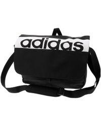 0a7a2d120d adidas - Lin per messenger black hommes Sac bandoulière en Noir - Lyst
